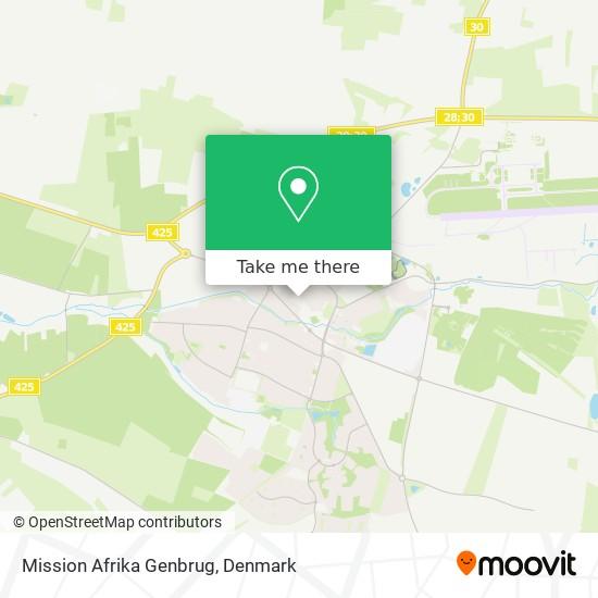 Mission Afrika Genbrug Karte