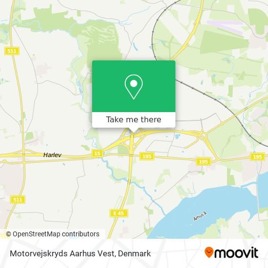 Motorvejskryds Aarhus V map