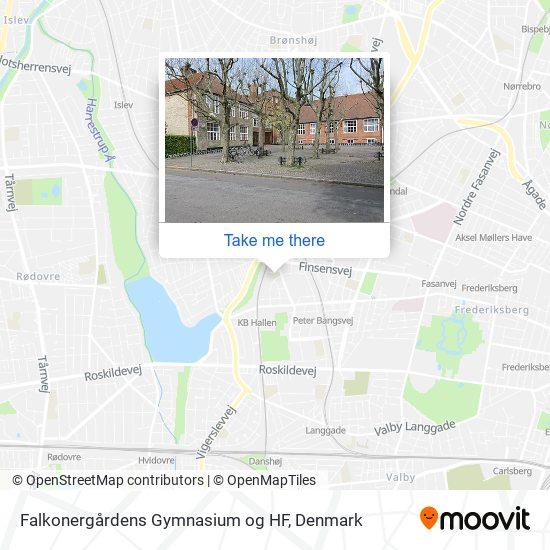 Falkonergårdens Gymnasium og HF map