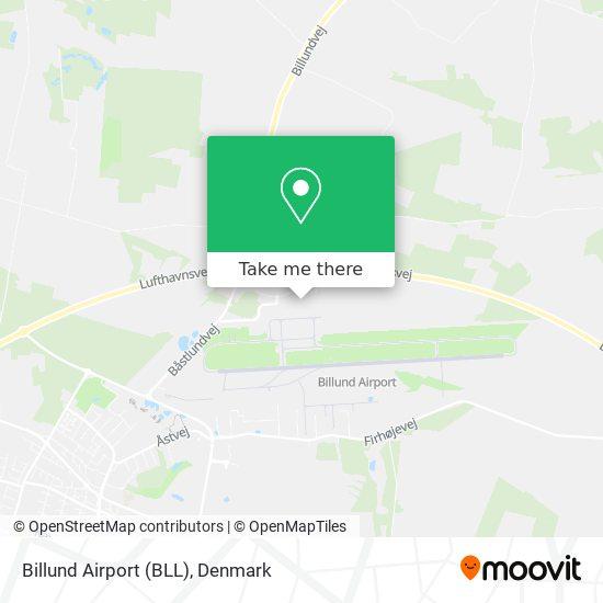 Billund Airport (BLL) map