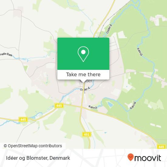 Idéer og Blomster map