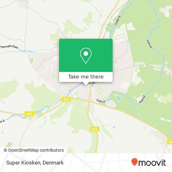 Super Kiosken map