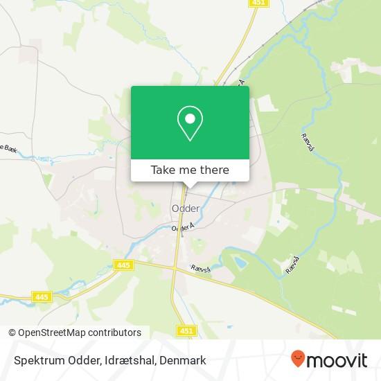 Spektrum Odder, Idrætshal map