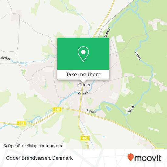 Odder Brandvæsen map