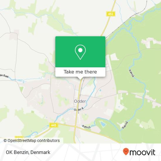OK Benzin map