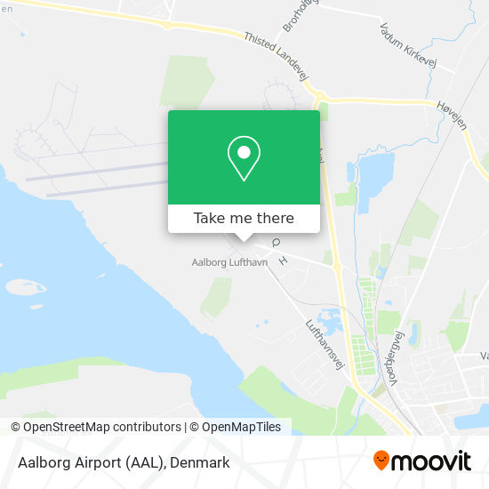Aalborg Airport (AAL) map