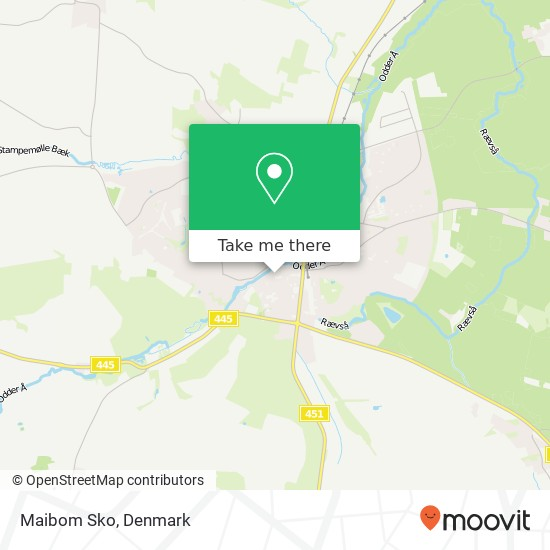 Maibom Sko, Rosensgade 41 8300 Odder Karte