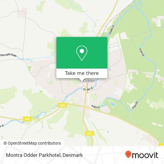 Montra Odder Parkhotel, Torvald Køhlsvej 25 8300 Odder Karte