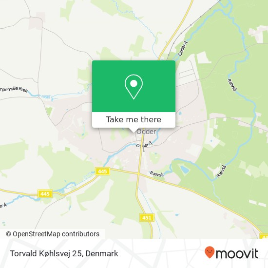 Torvald Køhlsvej 25 Karte