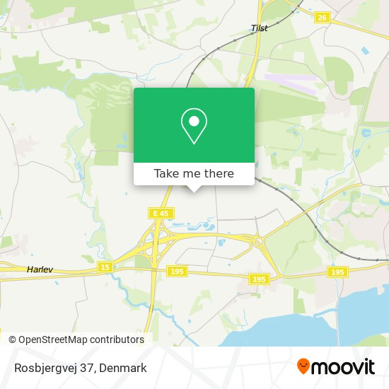 Rosbjergvej 37 map