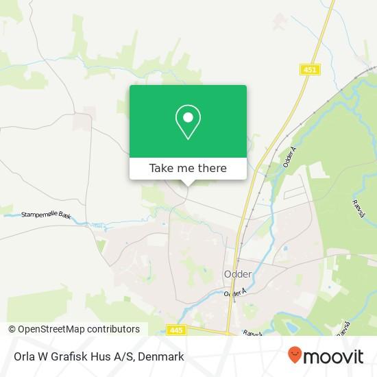 Orla W Grafisk Hus A/S Karte