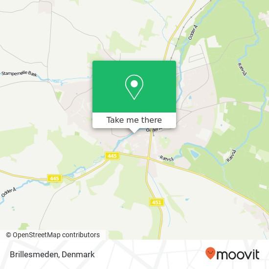Brillesmeden map