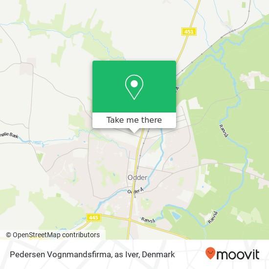 Pedersen Vognmandsfirma, as Iver map