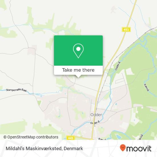 Mildahl's Maskinværksted Karte