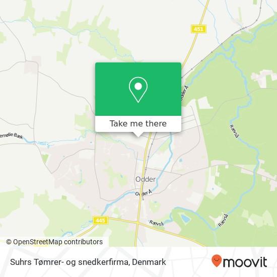 Suhrs Tømrer- og snedkerfirma map