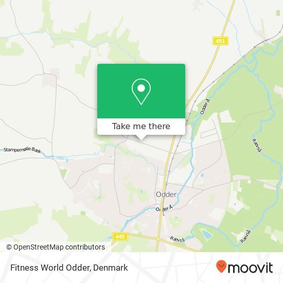 Fitness World Odder Karte