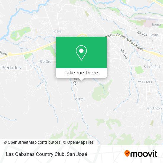 Las Cabanas Country Club map