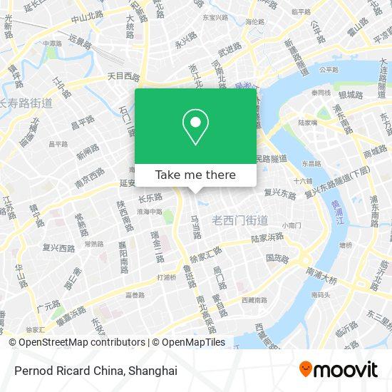 Pernod Ricard China map