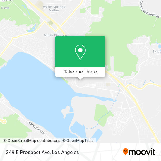 249 E Prospect Ave mapa