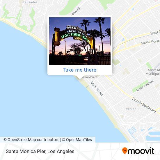 Santa Monica Pier mapa