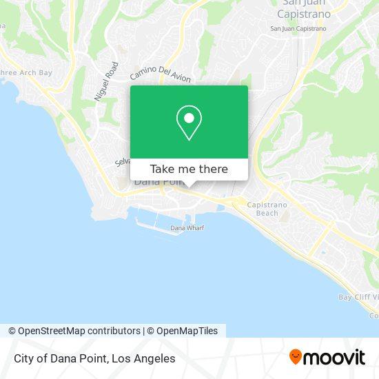 Mapa de City of Dana Point