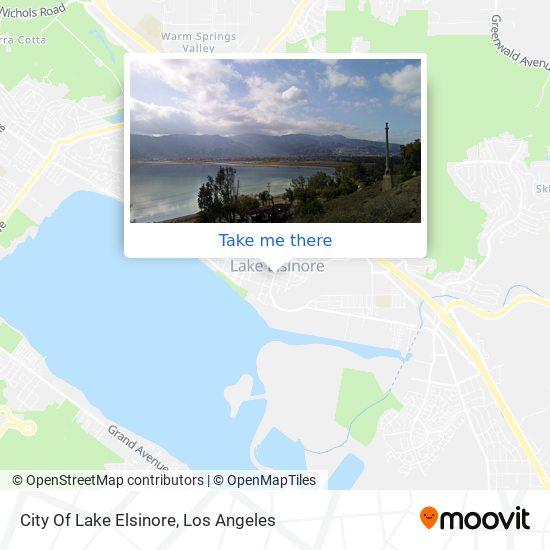 City Of Lake Elsinore map