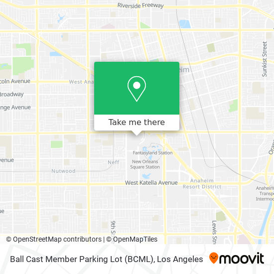Ball Cast Member Parking Lot (BCML) mapa