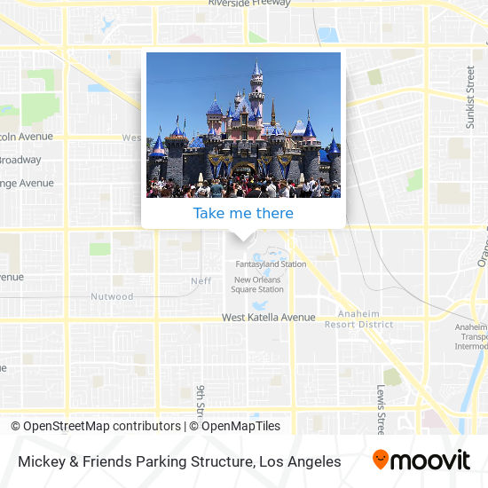 Mickey & Friends Parking Structure mapa