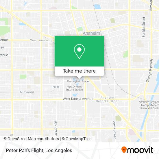 Peter Pan's Flight mapa