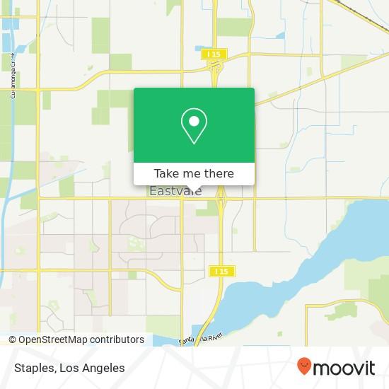 Mapa de Staples