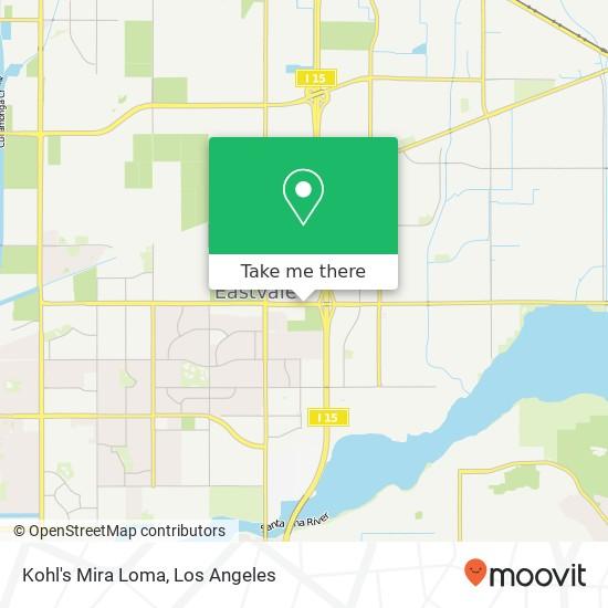 Kohl's Mira Loma map