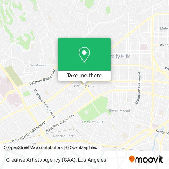 Mapa de Creative Artists Agency (CAA)