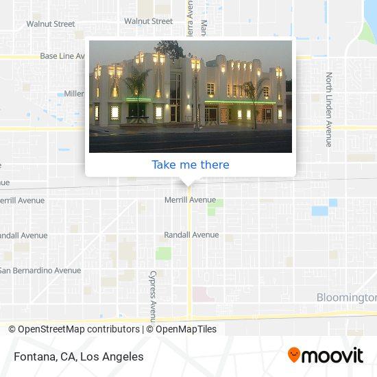 Fontana, CA map