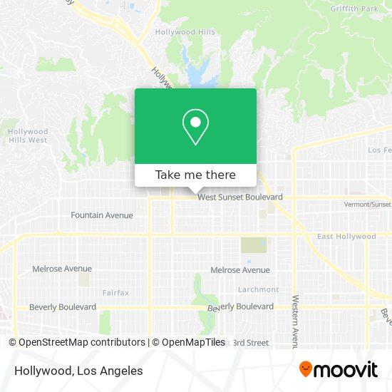 Hollywood mapa