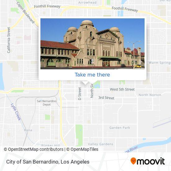 City of San Bernardino mapa