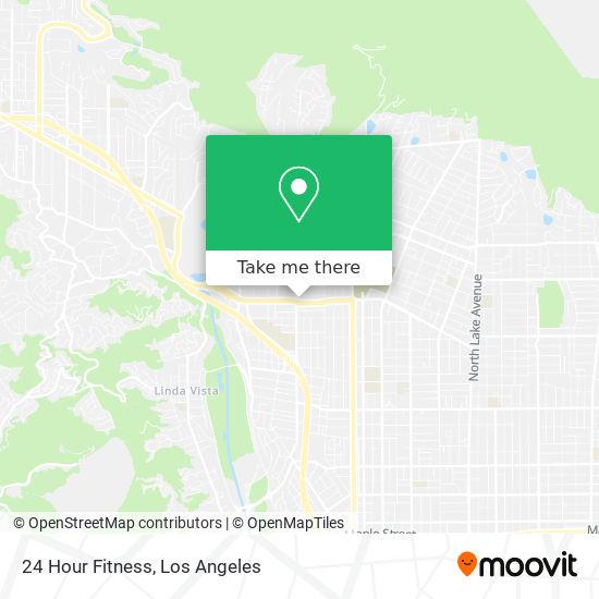 Mapa de 24 Hour Fitness
