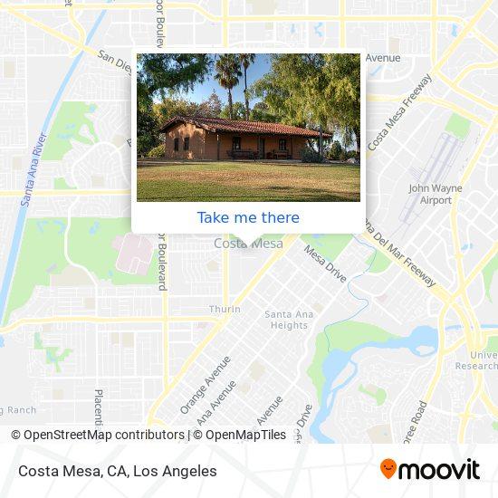Costa Mesa, CA map