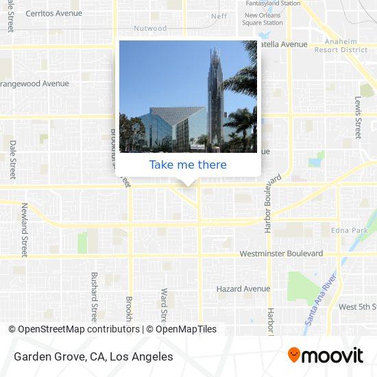 Mapa de Garden Grove, CA