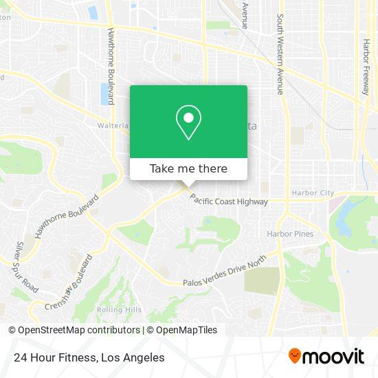 24 Hour Fitness mapa
