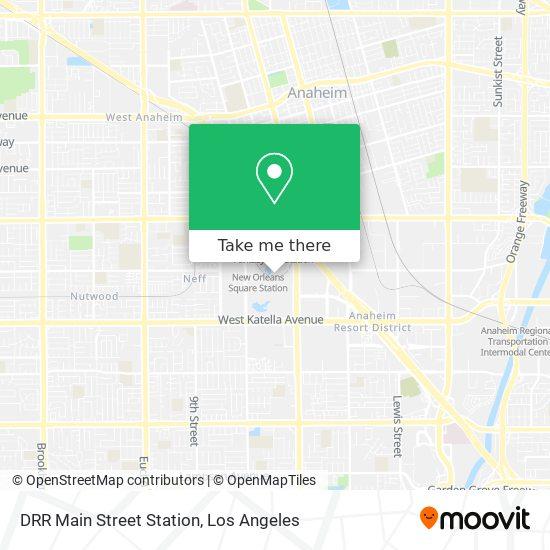 DRR Main Street Station mapa
