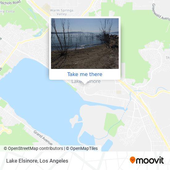 Lake Elsinore mapa