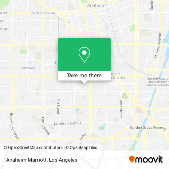 Mapa de Anaheim Marriott