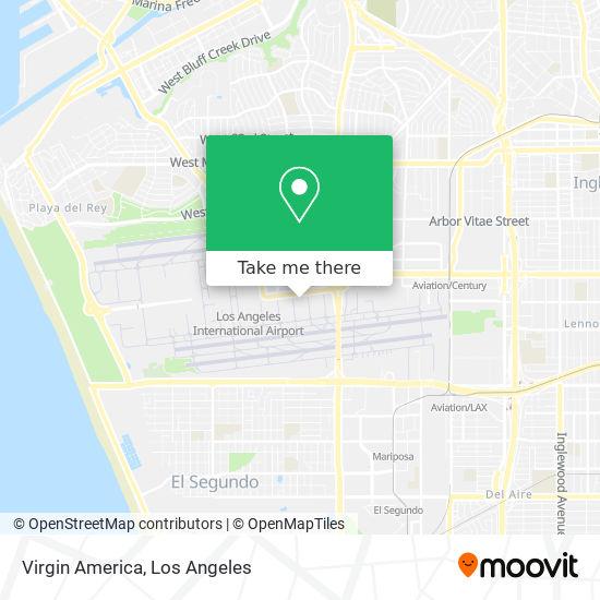 Mapa de Virgin America