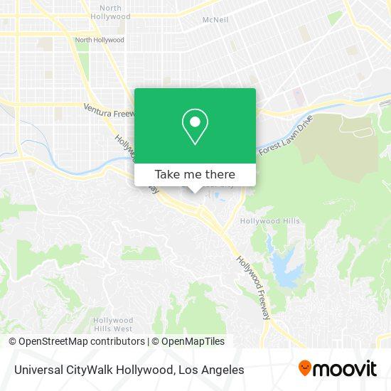 Mapa de Universal CityWalk Hollywood