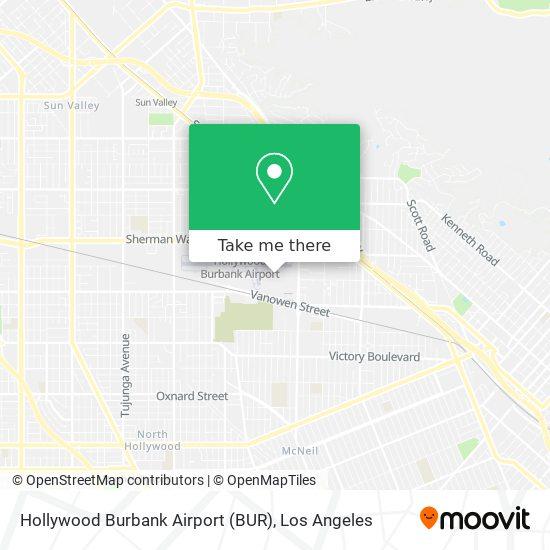 Hollywood Burbank Airport (BUR) mapa