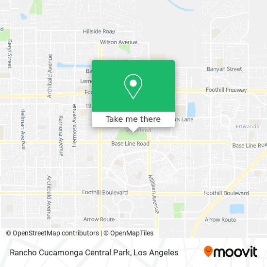 Rancho Cucamonga Central Park map