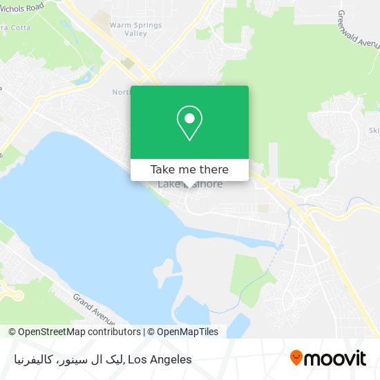 لیک ال سینور، کالیفرنیا mapa