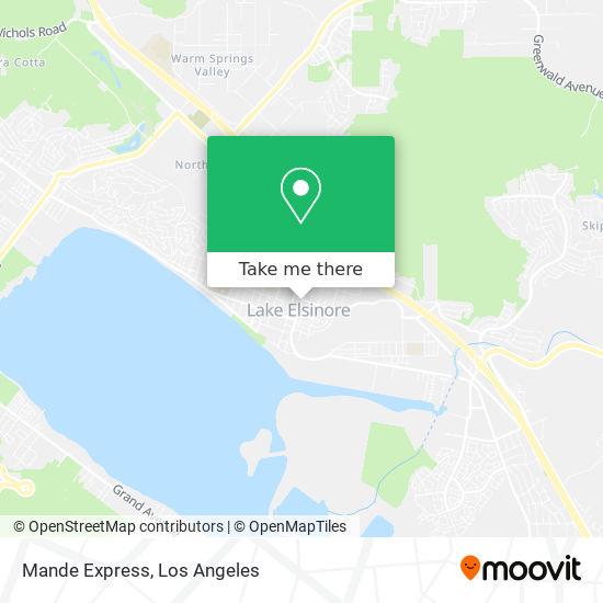 Mande Express mapa