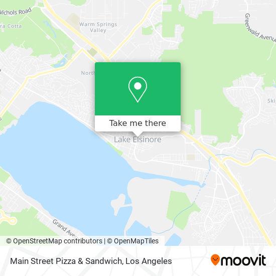 Main Street Pizza & Sandwich mapa