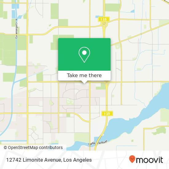 12742 Limonite Avenue mapa